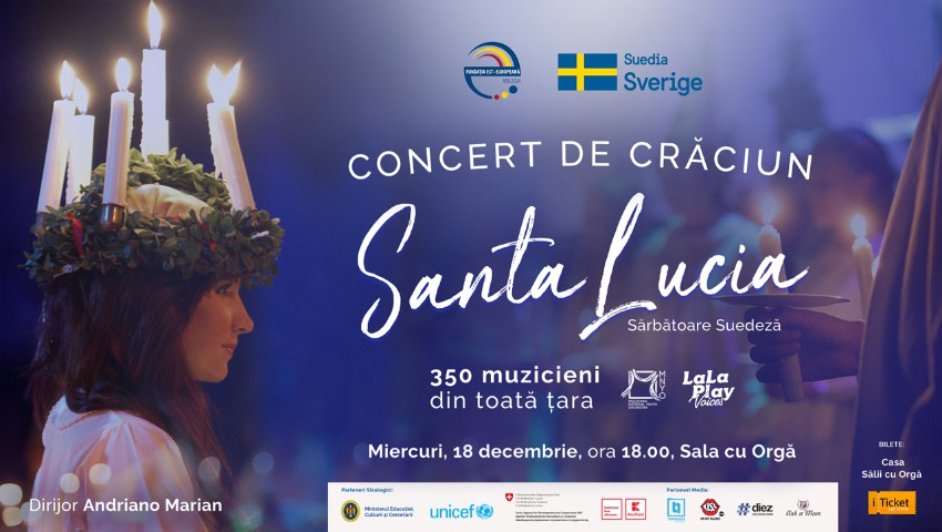 """Foto: Anna Lyberg, Ambasadoarea Suediei în Moldova cordial invită la Concertul de Crăciun """"Santa Lucia"""""""