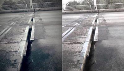 Alertă! Fisuri periculoase pe un pod din Capitală