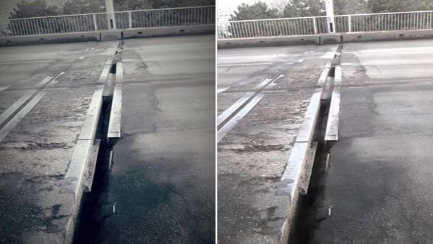 Foto: Alertă! Fisuri periculoase pe un pod din Capitală