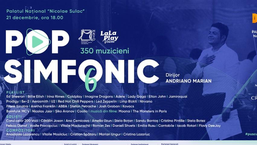 Foto: Pop Simfonic revine cu cel mai grandios și bogat concert de până acum, în a 6-a ediție!