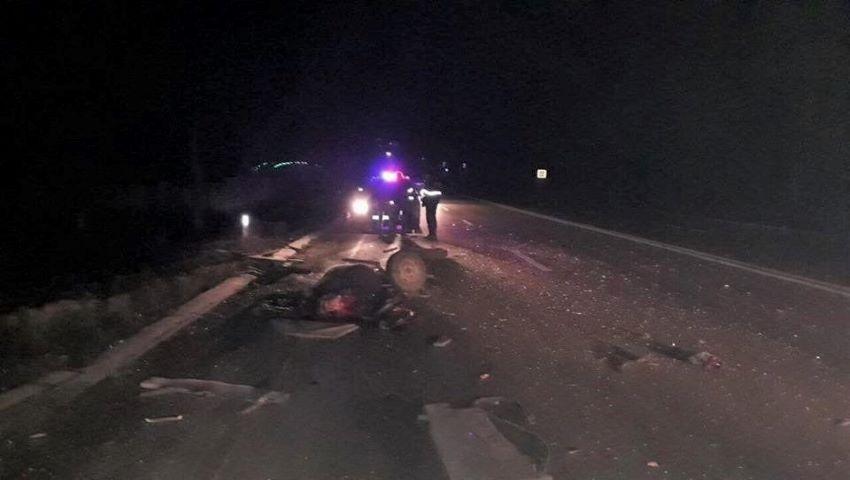 Foto: Un Ford a lovit o căruță care mergea pe contrasens, la Sângerei