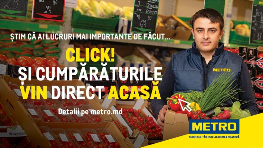Foto: Ai lucruri mai importante de făcut? De sărbători, produsele METRO vin direct acasă!