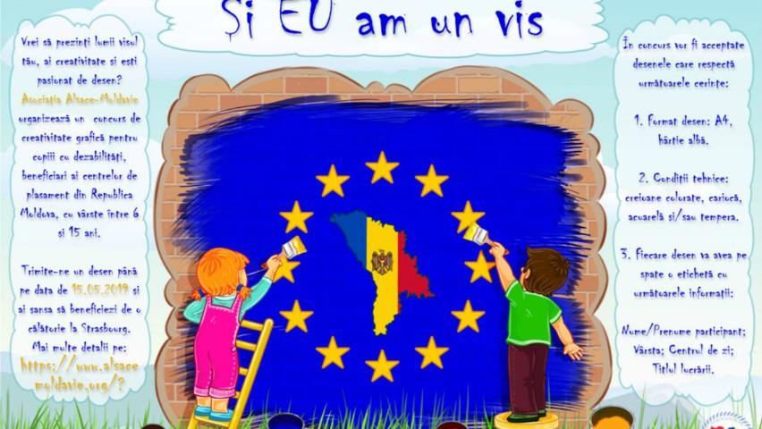 """Foto: Cadouri și premii vor fi oferite copiilor cu dizabilități, participanți ai concursului de desene """"Și eu am un vis"""""""