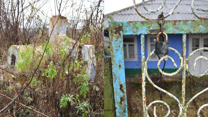 Foto: Ulițele copilăriei astăzi sunt pustii. Satul din Moldova în care au rămas doar câțiva bătrânei