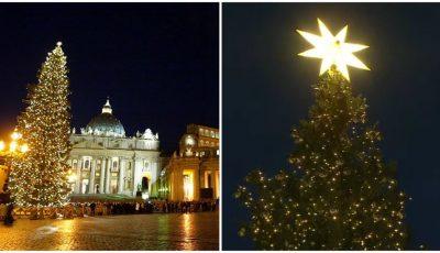 Video! Seară magică la Vatican. S-au aprins luminițele de Crăciun