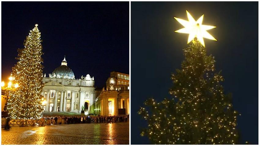 Foto: Video! Seară magică la Vatican. S-au aprins luminițele de Crăciun