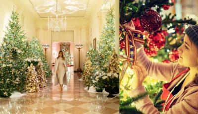 Feerie la Casa Albă! Cum arată decorațiunile de Crăciun alese de Melania Trump