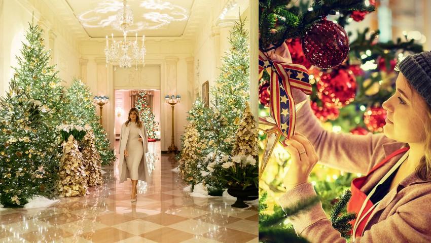 Foto: Feerie la Casa Albă! Cum arată decorațiunile de Crăciun alese de Melania Trump