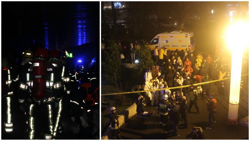 """Foto: Noapte grea pentru pompieri. ,,Incendiu într-un club de noapte din Chișinău"""". 250 de oameni evacuați"""