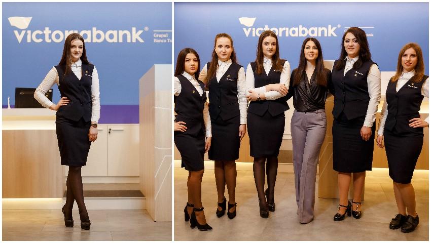 Foto: Un cunoscut brand vestimentar a creat uniformele angajaților Victoriabank