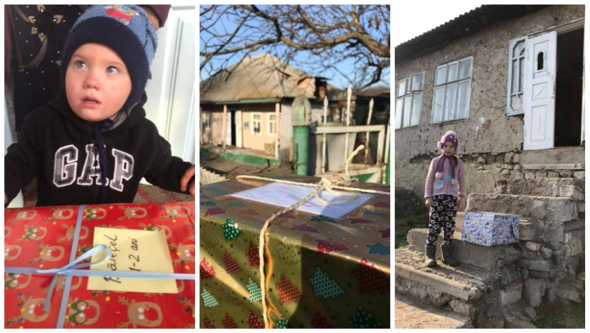 Foto: Bucurie! Sute de copii din țară primesc cadouri de Crăciun, datorită mamelor care fac donații din diferite colțuri ale lumii