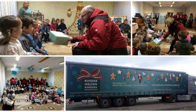 Un grup de 70 de voluntari din Germania au adus daruri de Crăciun pentru copiii din Moldova