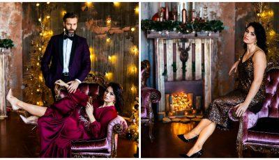Diana Ballerini și soțul ei, într-o ședință foto ravisantă și pasională de Crăciun!