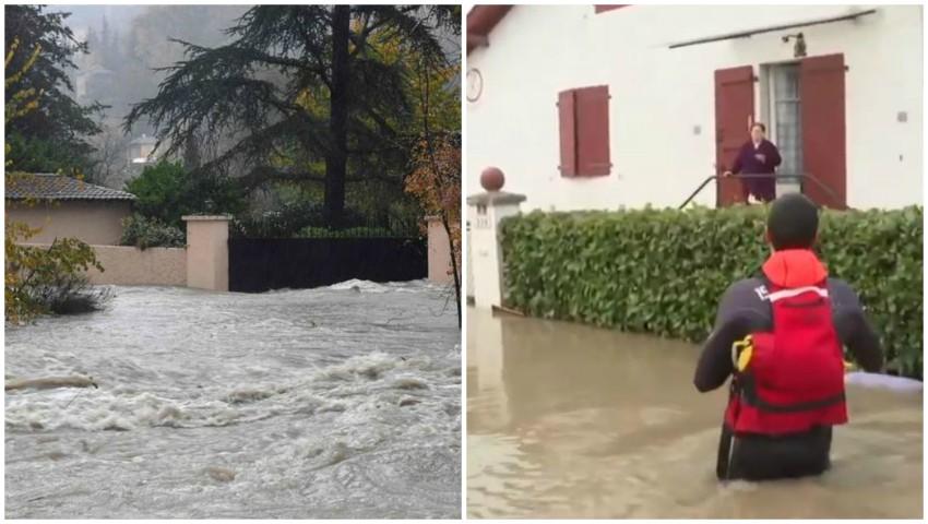 Foto: Inundații puternice în Franța. Trei persoane au murit înecate, după ce au fost luate de puhoaie