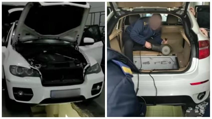 Foto: Vameșii moldoveni au tăiat cu flexul BMW de lux al unei femei
