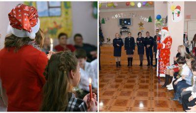 Moș Crăciun a vizitat copiii unui gimnaziu-internat din Capitală