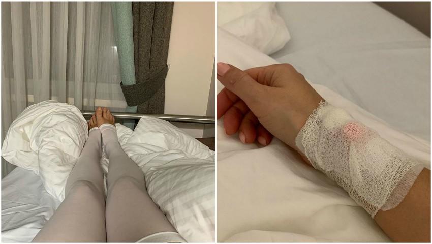 Foto: Lera Kudreavțeva trece prin momente de coșmar, după ce i s-a spart un implant mamar
