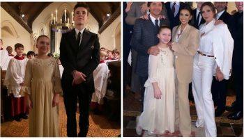 David și Victoria Beckham și-au botezat copiii. Iată cine sunt nașii!