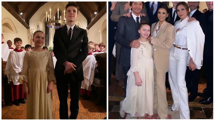 Foto: David și Victoria Beckham și-au botezat copiii. Iată cine sunt nașii!