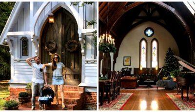 Un cuplu a cumpărat o biserică și a transformat-o în casă de locuit. Imagini din interior după renovare