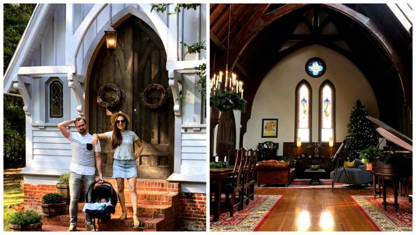 Foto: Un cuplu a cumpărat o biserică și a transformat-o în casă de locuit. Imagini din interior după renovare