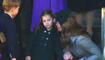 Prinţesa Charlotte, gest emoționant la slujba de Crăciun. A îmbrățișat o femeie în scaun cu rotile