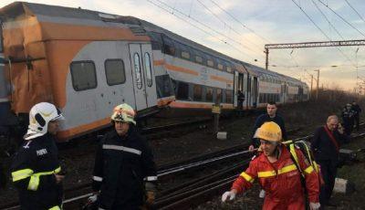 Accident feroviar în România. Două trenuri s-au ciocnit: 11 victime