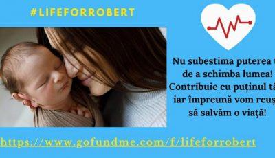 Târg de caritate! Ajută-l pe Robert să poată avea o copilărie sănătoasă!