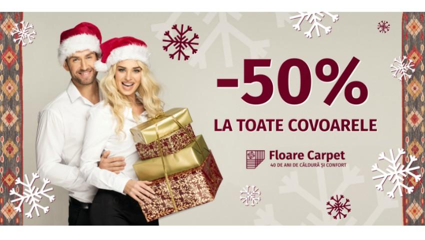 Foto: Toate covoarele la Jumătate de Preț! Povestea de Crăciun de la Floare Carpet a început!