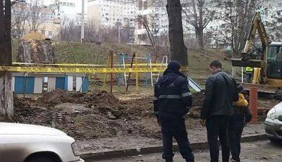 Un proiectil exploziv a fost descoperit în curtea unui bloc din Capitală
