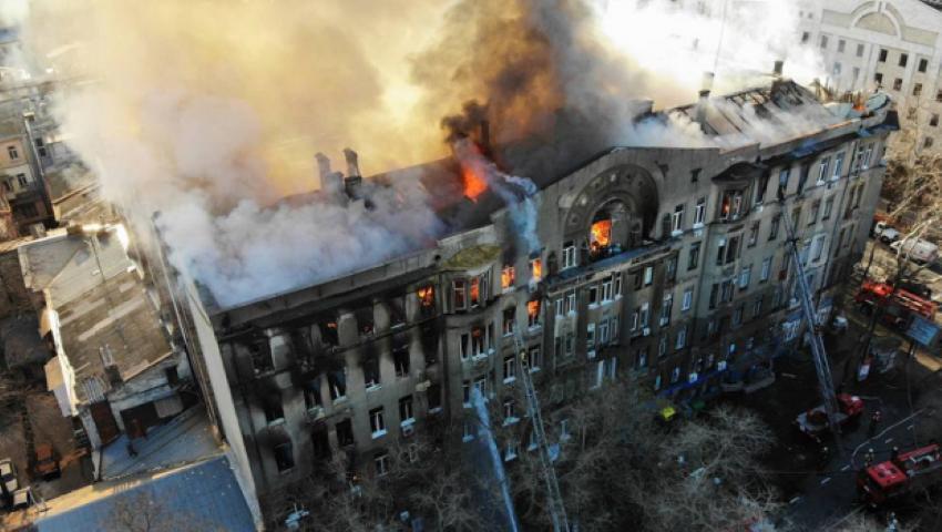 Foto: Incendiul din Odessa: 14 persoane sunt date dispărute