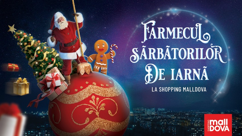 Foto: La Shopping MallDova sărbătorile de iarnă îți aduc: jucării dansatoare, spectacol de păpuși și cadouri dulci pentru fiecare copil