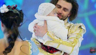 Video! Fiica cea mică a Anastasiei Zavorotnyuk a ieșit pe gheață alături de tatăl său!