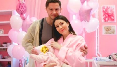 O poză de familie adorabilă! Irina Kovalsky a publicat prima imagine cu fetița ei nou-născută