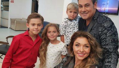 Ionuț Dolănescu și soția sa basarabeancă, și-au adus copiii în România de Crăciun, pentru prima dată