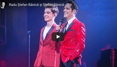 Ştefan Bănică a ridicat publicul în picioare la Sala Palatului, când a cântat în duet cu fiul său. Video!