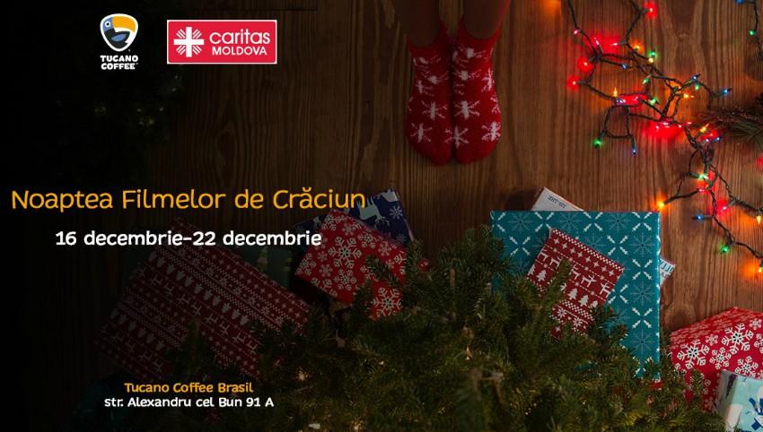"""În ajunul sărbătorilor de iarnă poți face o faptă bună, în cadrul evenimentului de caritate ,,Noaptea Filmelor de Crăciun""""!"""
