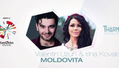 """Valentin Uzun și Irina Kovalsky, hotărâți să câștige concursul Eurovision 2020! Ascultă piesa ,,Moldovița"""""""