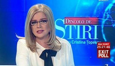 Vedeta TV, Cristina Țopescu, a fost găsită decedată în locuința sa