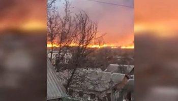 Incendiu în Moldova. Imagini îngrozitoare