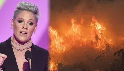 Pink donează 500.000 de dolari pompierilor care luptă cu flăcările în Australia