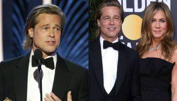 Video! Vezi ce glumă despre femei a făcut Brad Pitt pe scenă, la Globurile de Aur