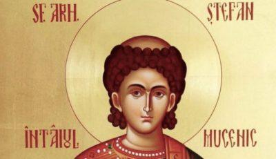 Creștinii ortodocși de rit vechi îl prăznuiesc astăzi pe Sfântul Ștefan