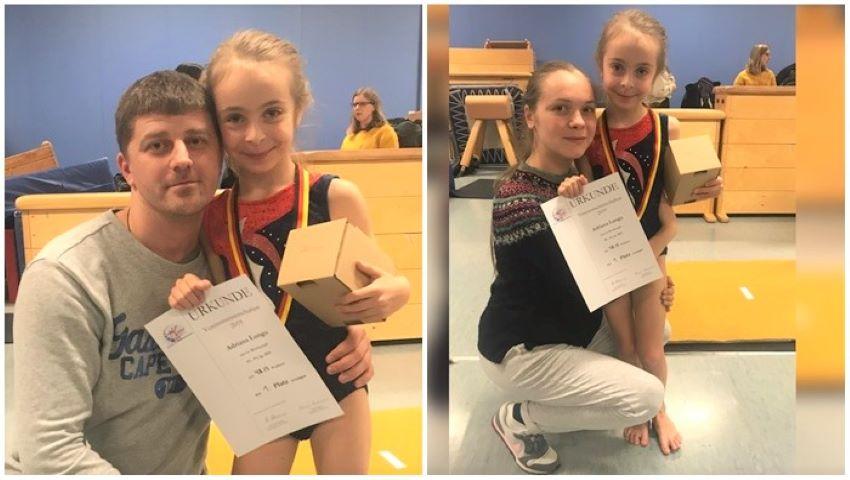 Foto: O fetiță originară din Moldova este una dintre cele mai bune gimnaste din Germania