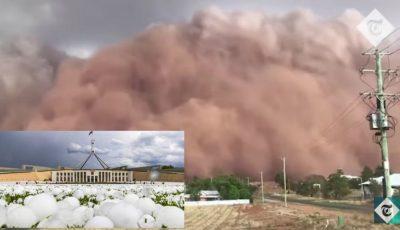 Case distruse și furtuni. Australia, lovită de grindină uriașă după incendii