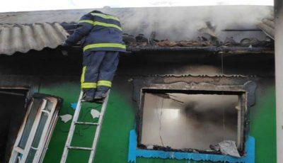 Incendiu la Telenești: un bărbat a fost internat cu arsuri, iar o femeie a murit