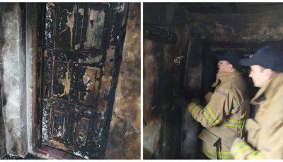 Imagini din locuința de la Ocnița în care au ars un bărbat și doi copii mici