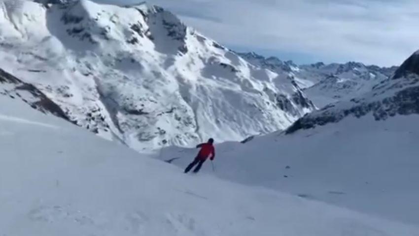 Foto: Video! Igor Dodon a plecat în vacanță la munte cu soția și copiii săi