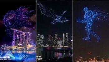 Revelion 2020: show mega spectaculos cu drone în Singapore. O soluție prietenoasă cu mediul înconjurător