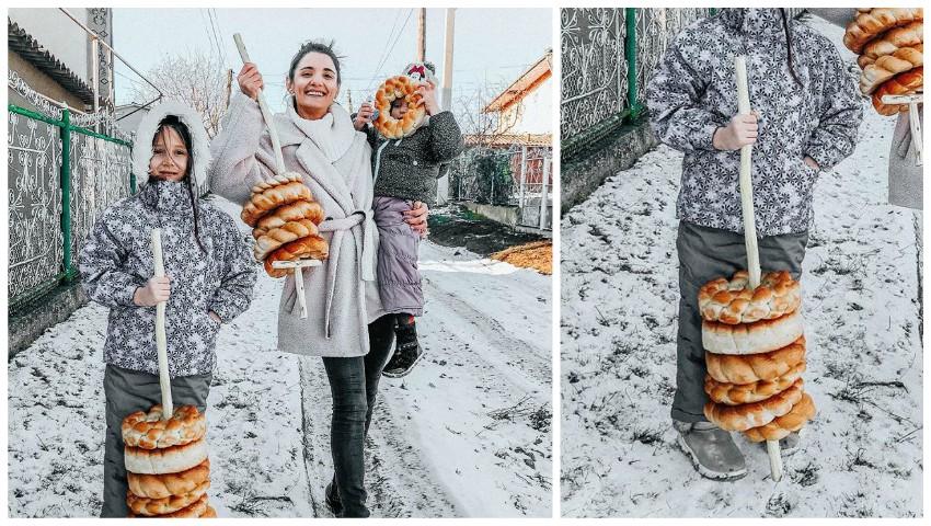 """Foto: La colindat, ca în copilărie, la Drochia. Lilu: ,,Crăciun fericit tuturor""""!"""
